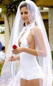 Vestido de novia poco habitual