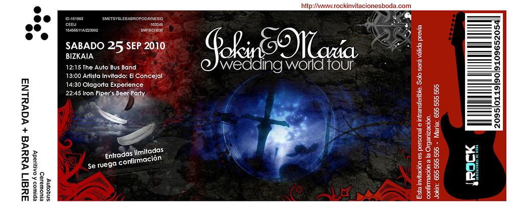 Invitaciones de boda tipo gotico