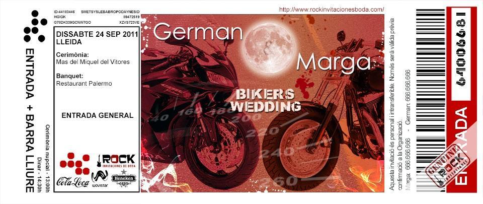 Invitaciones de boda de Marga y German